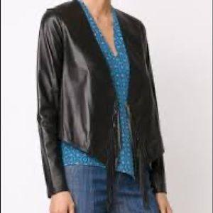 10 crosby Derek lam black fringe cropped jacket